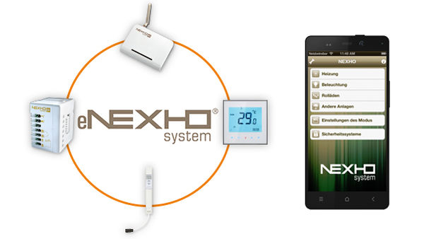 eNEXHO Components used for the heating controls