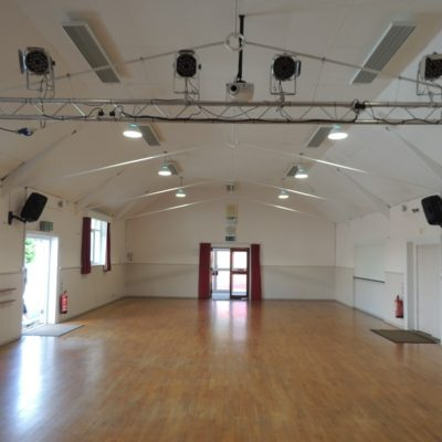 Main Hall heating with ceiling mounted ETHERMA EZ-2000W Infrared Heaters