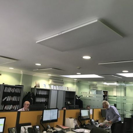 Office heating with ceiling mounted LAVA Basic DM