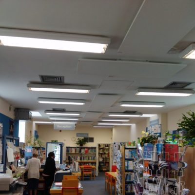 ceiling mounted LAVA Infrared Basic DM 1000 panels