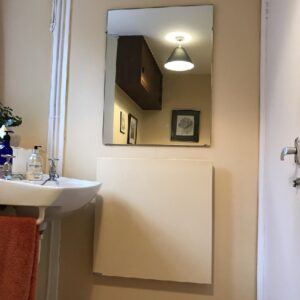 Bathroom heating with LAVA Basic 350W Infrared Panel