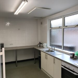 Village hall kitchen heating with infrared - LAVA Basic 500DM