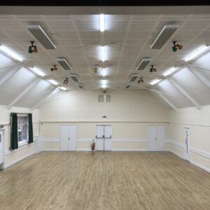 Main hall heating with EZ 2000 infrared heaters