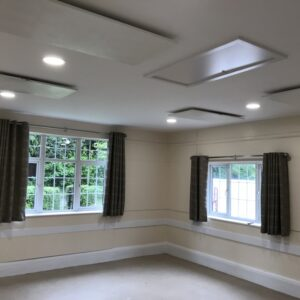 Meeting room infrared heating