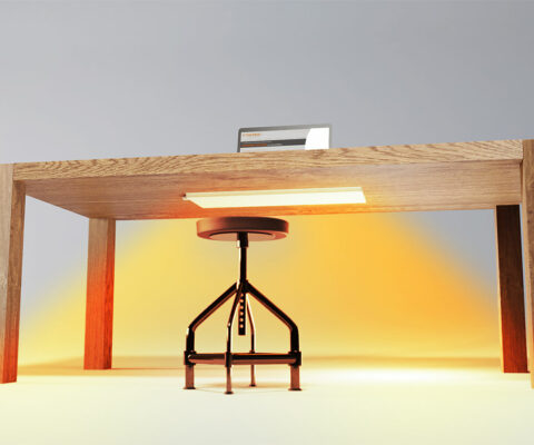 Lava Desk Infrared Heater